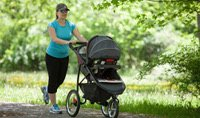Jogger stroller with car seat