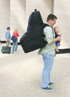 Father, Travel Bag & Baby