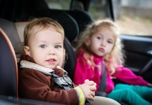 Boy and Girl in Best Car Seat 2017
