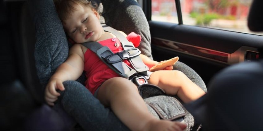 Baby sleep in car