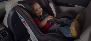 Baby on convertible car seats