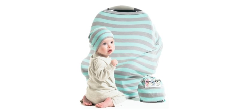 Cool Beans Stretchy Baby Car Seat Canopy And Nursing Cover
