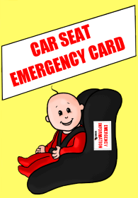 Car Seat Emergency Card
