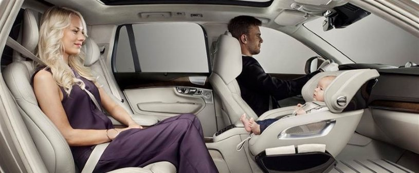 Volvo's new concept puts child car seat