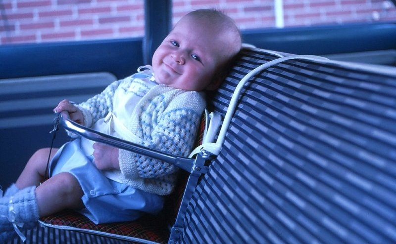 "The first ""car seats"""