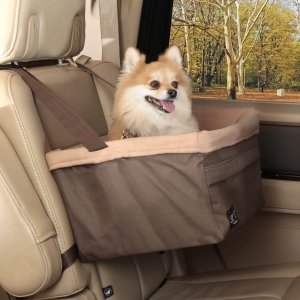 Pet booster seat in the backseat