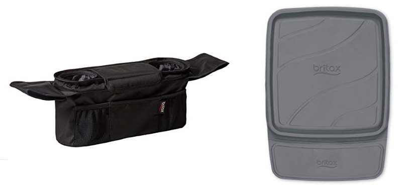 Britax Stroller Organizer with Cup Holders and Vehicle Seat Protector