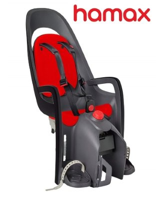 Hamax Caress Child Bike Seat (Grey/Red)