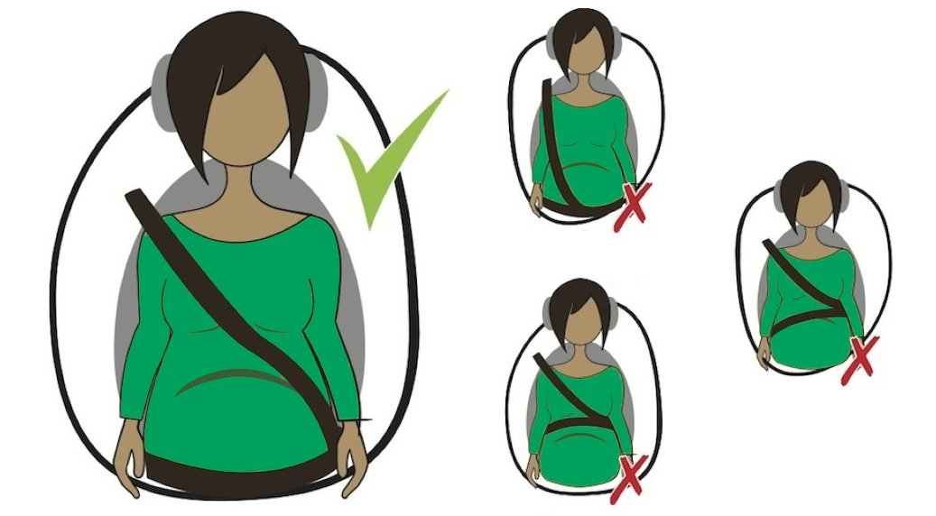 How to wear a seat belt when pregnant