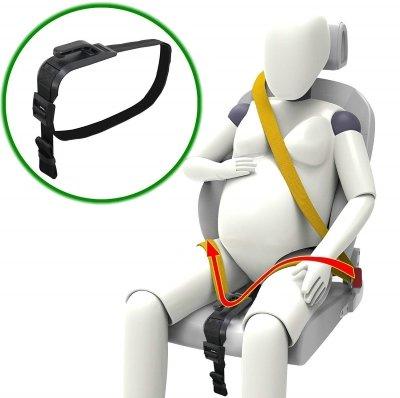 ZUWIT Bump Belt, Maternity Car Belt Adjuster, Comfort & Safety for Pregnant Moms Belly, Protect Unborn Baby