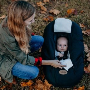 Cozy Cover Infant Car Seat Cover (Black Quilt)
