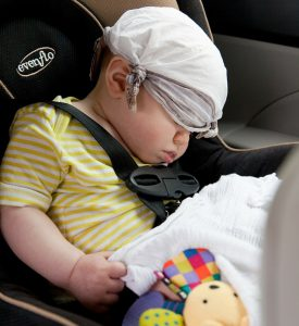 Sleeping Baby Car Seat
